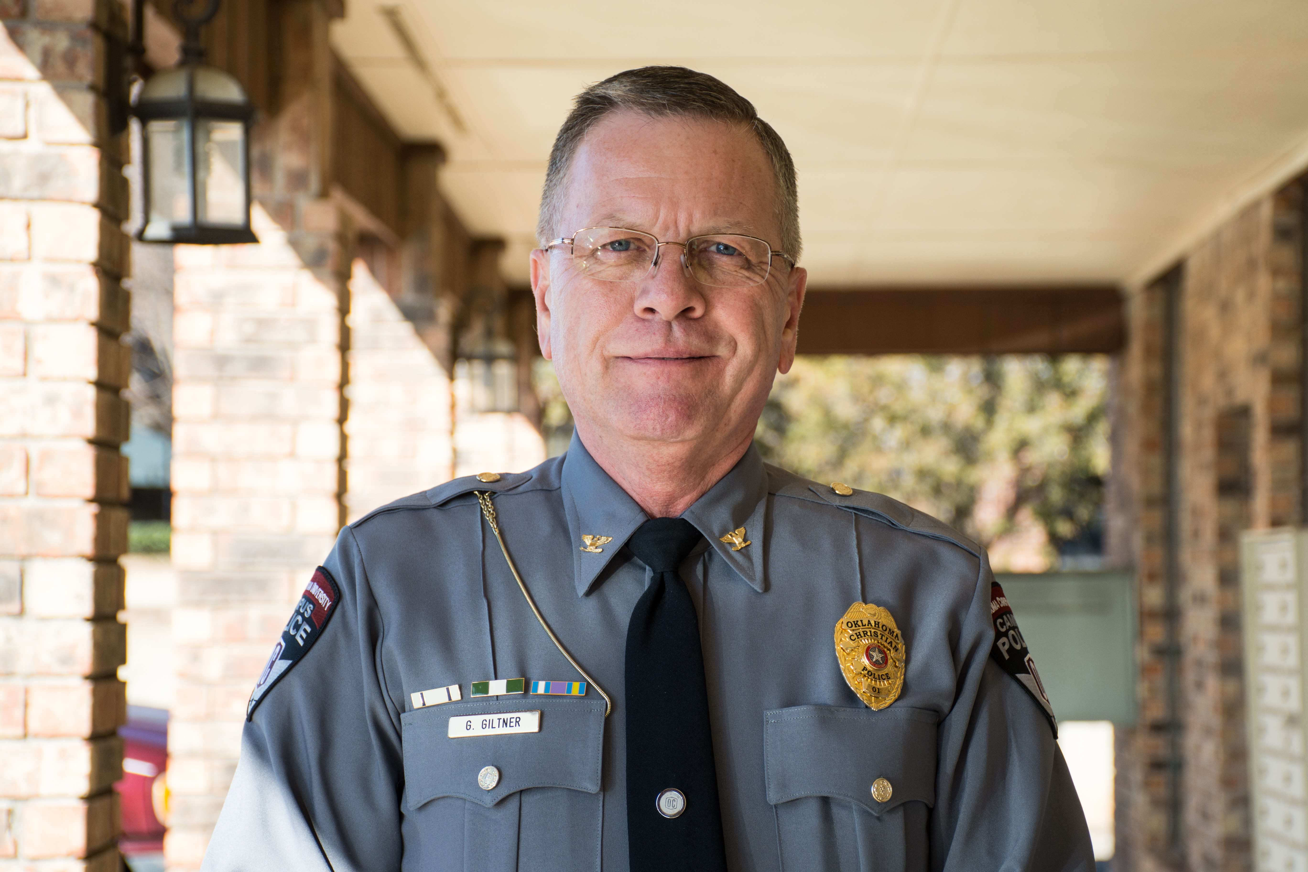 Greg Giltner began his job as the new Oklahoma Christian University police chief in October 2015. Photo by Abby Bellow.