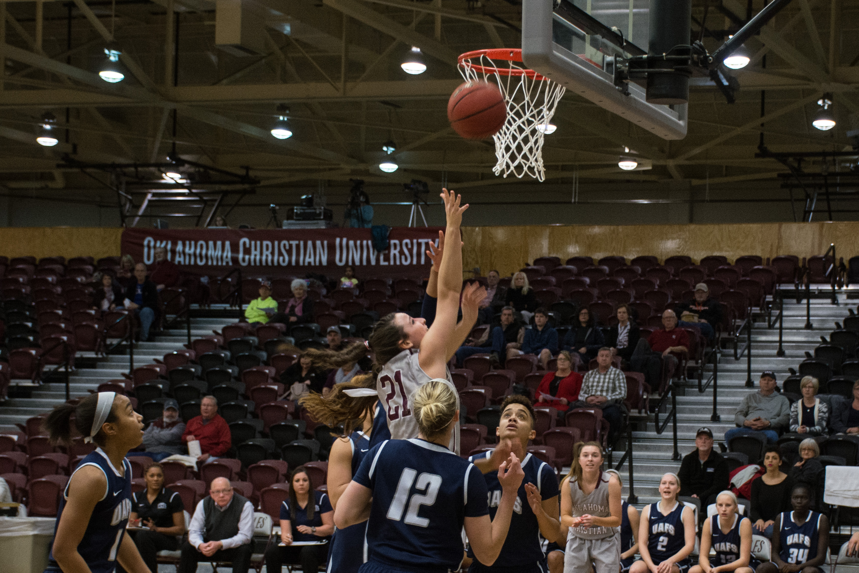 McKenzie Stanford Game against Arkansas-Fort Smith 1-21-16 Photo by Abby Bellow