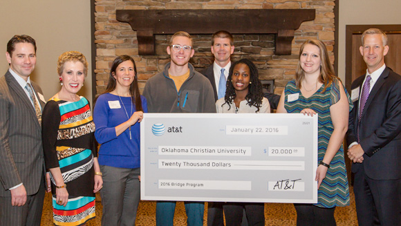 AT&T donates $20,000 to Bridge Program to help fund its programs for students. Online photos