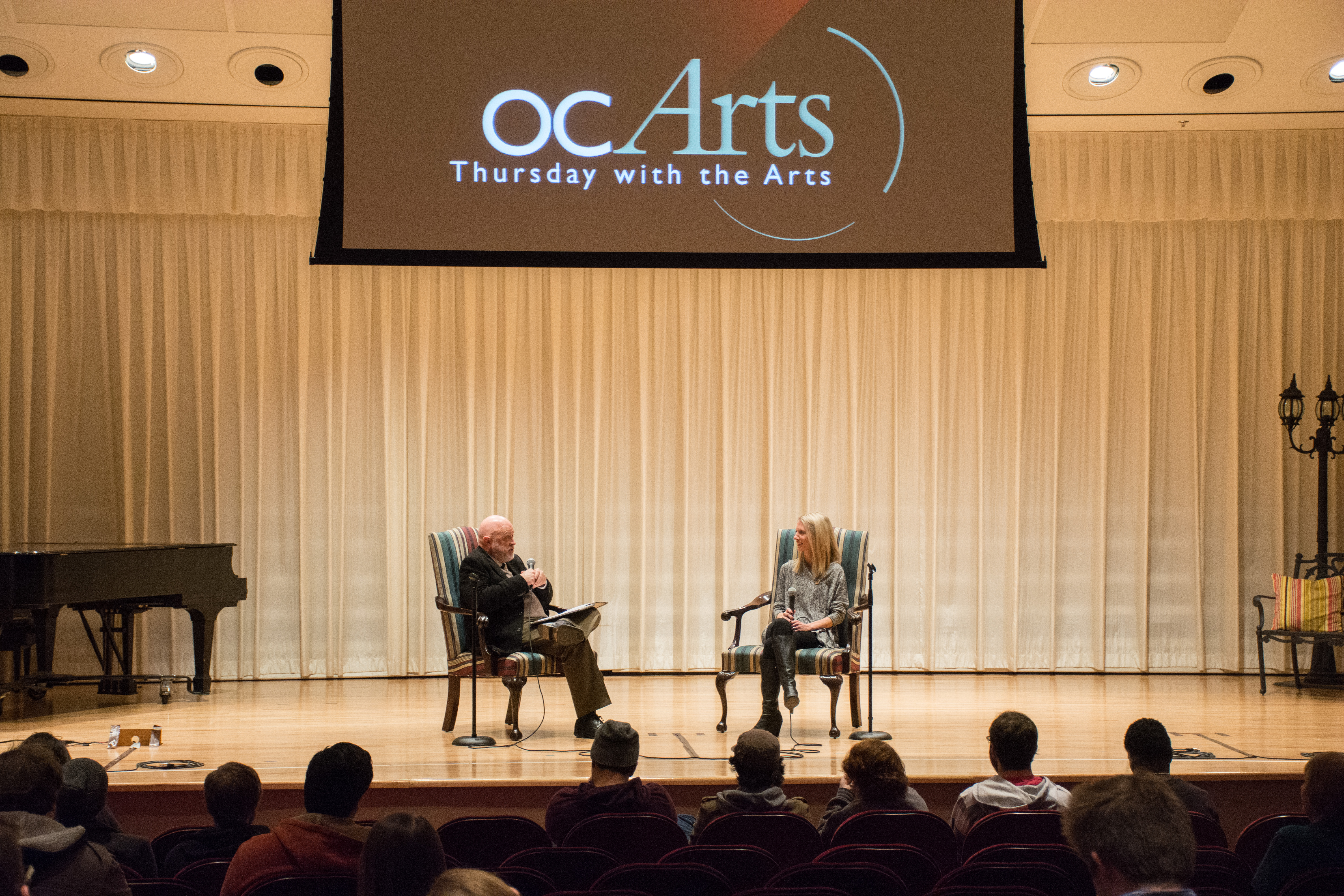 The first OC Arts chapel was on Thursday, Feb. 4 in the Adams Recital Hall. Photo by Abby Bellow.