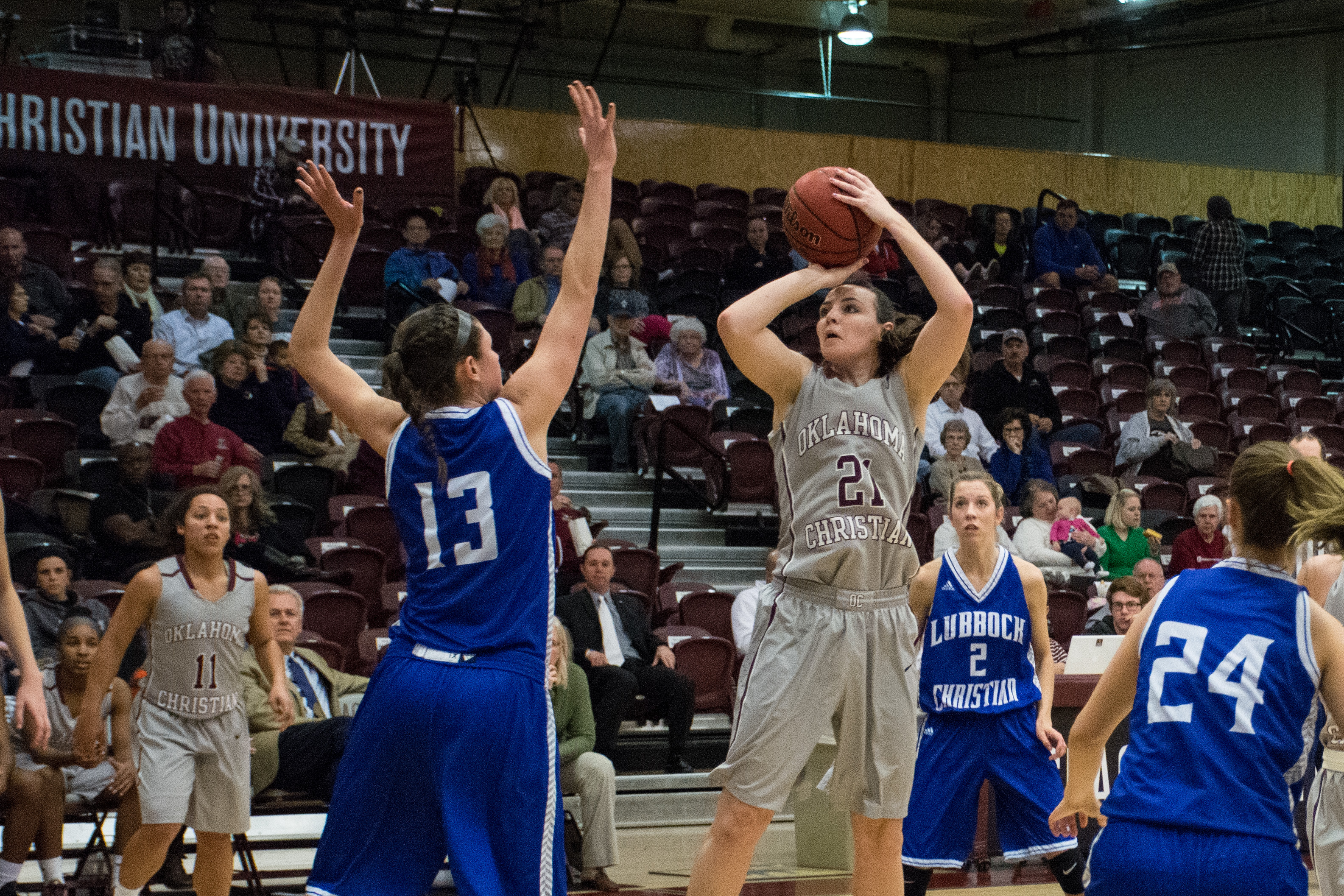 McKenzie Stanford attempt a shot against the Lady Chaps on Feb. 4. Photo by Abby Bellow.