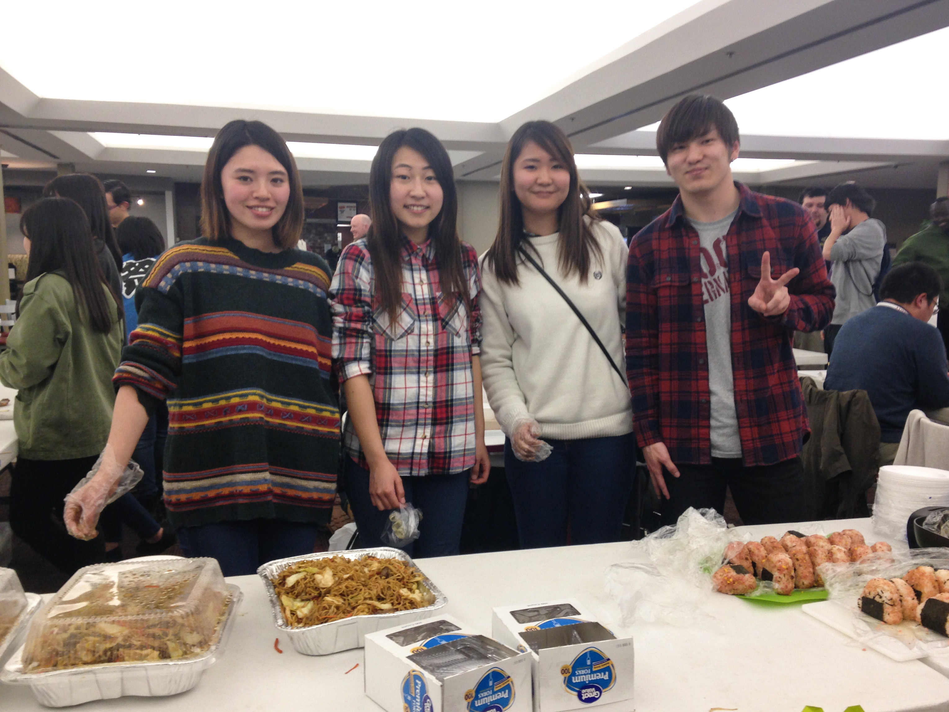 Students tried different types of food and participated in Chinese and Japanese activities, in order to learn about new cultures at Asian Night Feb. 22.  Photo by Emily Thornton