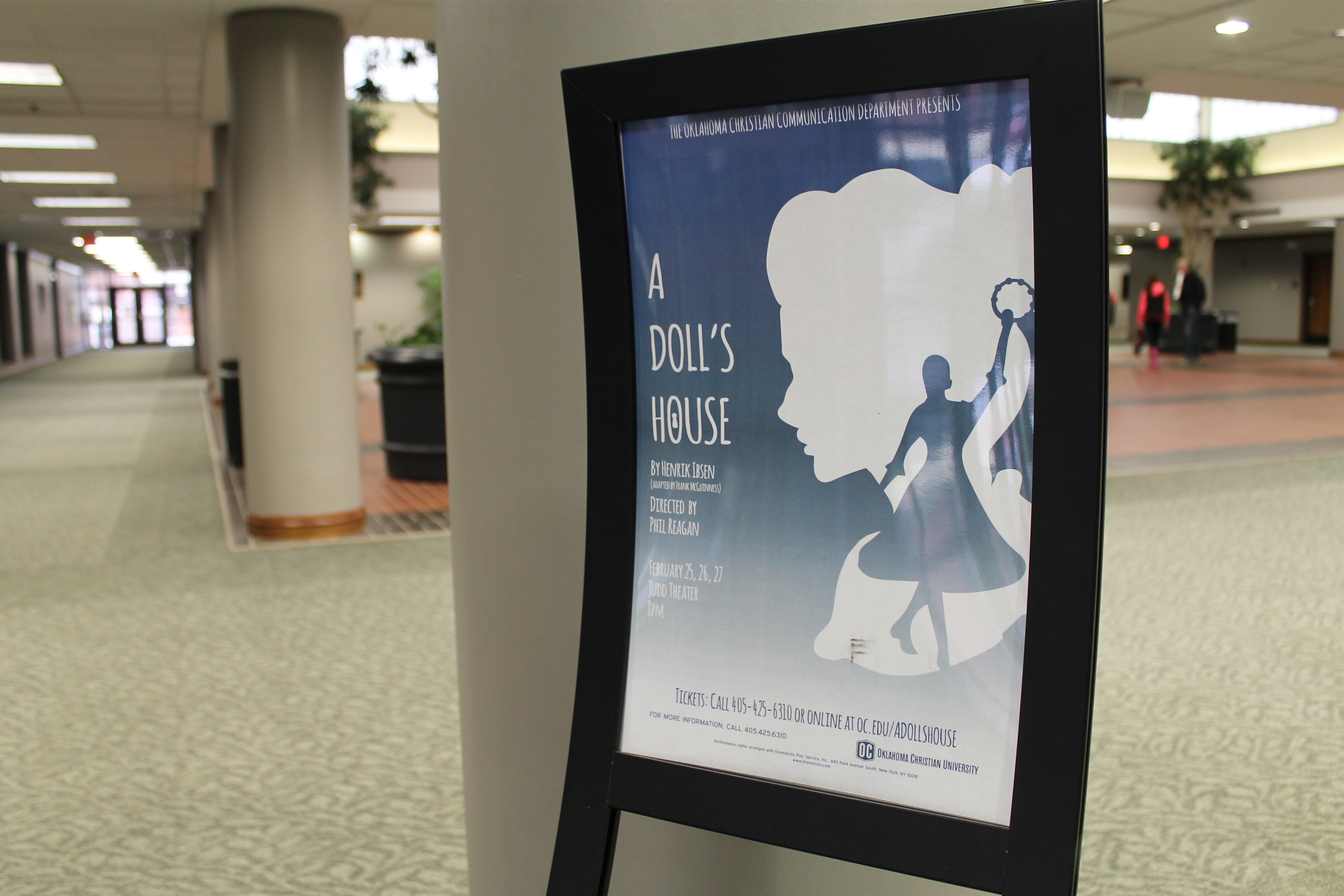 "Oklahoma Christian's Spring play ""A Doll's House""  debuts Feb. 25- 27 at 8 p.m.  in Judd Theatre.  Photo by Allyson Hazelrigg"