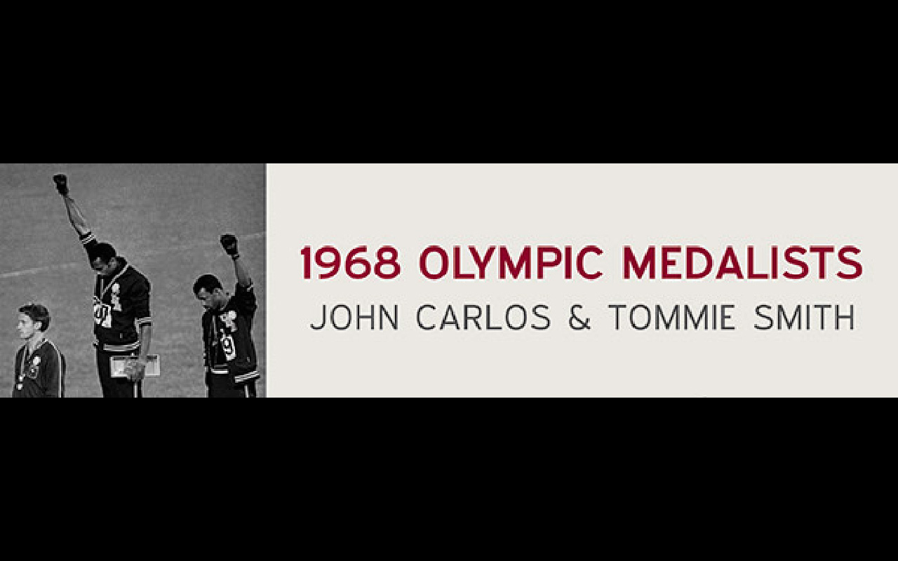 Olympic medalists Tommie Smith and John Carlos are this year's speakers for the third annual History Speaks lectures. Online photo.