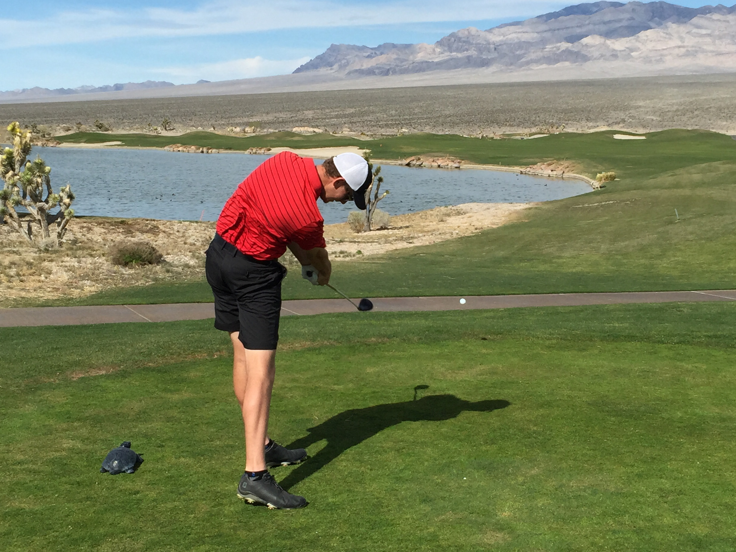 Zac Shaefer shoots 73, 73, 74 for a 12th place finish in the Las Vegas Desert Classic on Feb. 28-29. Photo by David Lynn.