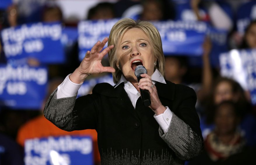 Democratic nominee Hillary Clinton diagnosed with pneumonia, doctor revealed Monday. Online Photo