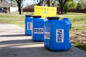 """Wishing Well's """"Walk for Water"""" challenged students to walk a mile in shoes of those less fortunate then themselves. Photo by Abby Bellow"""