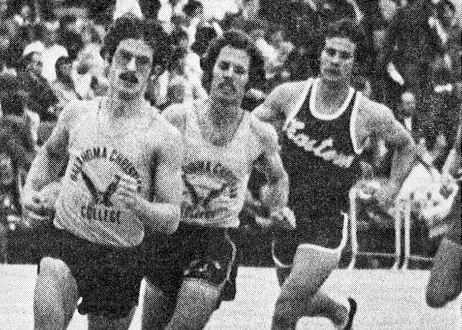 Steve Wolfe (left) is a three-time All-American and two-time national champion in track and cross country. Submitted photo.