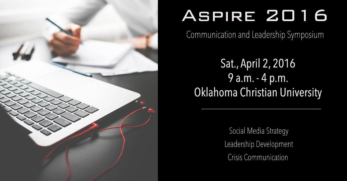 Senior Jonathan Johnson is leading OC's new communications event, Aspire, this Saturday.