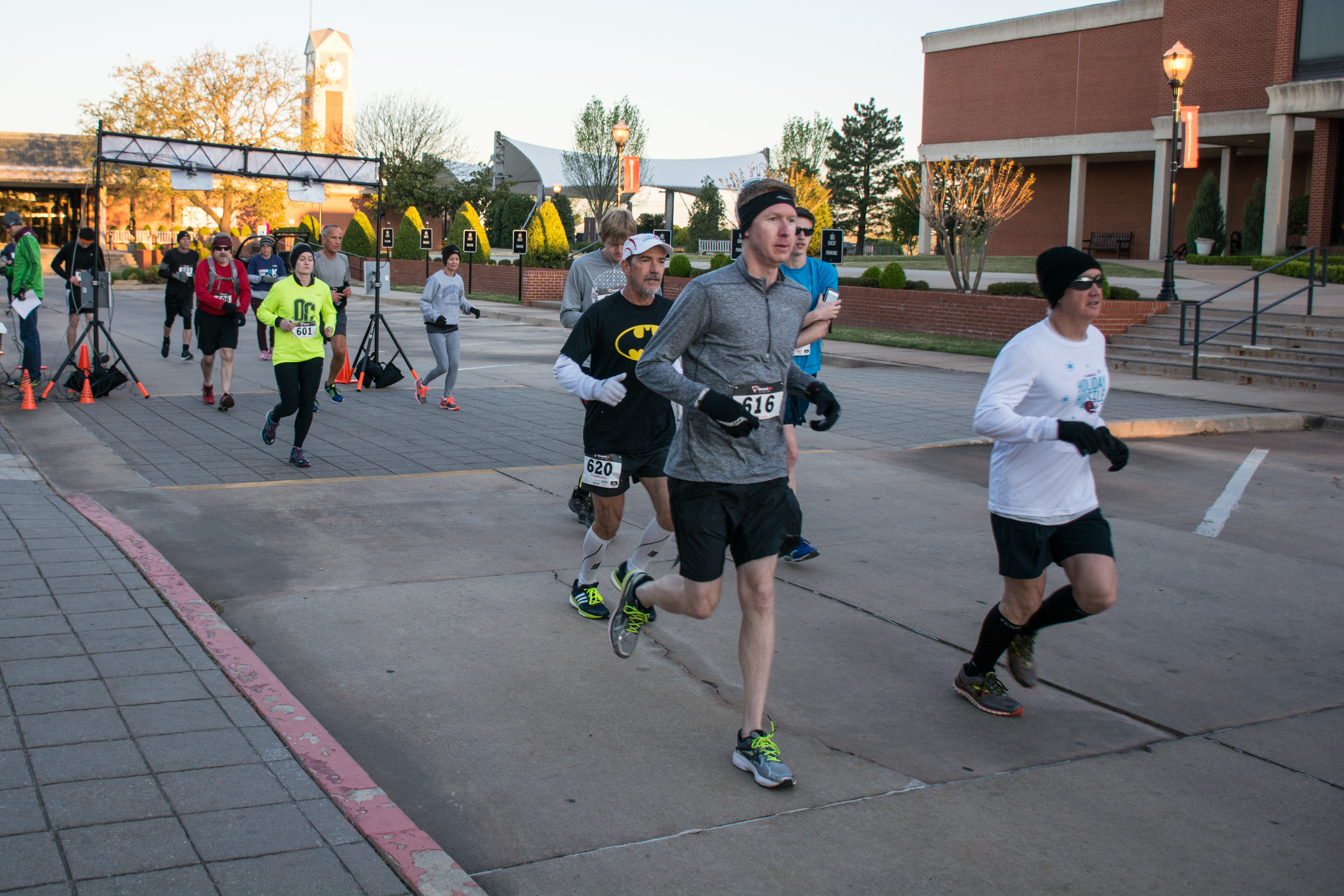 Those running the 30K started the Choose Your K race at 7:30 a.m. on Saturday morning. Photo by Abby Bellow.