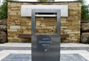 An area at Hartman Place allows students to honor their past loved ones. Photo by Allyson Hazelrigg