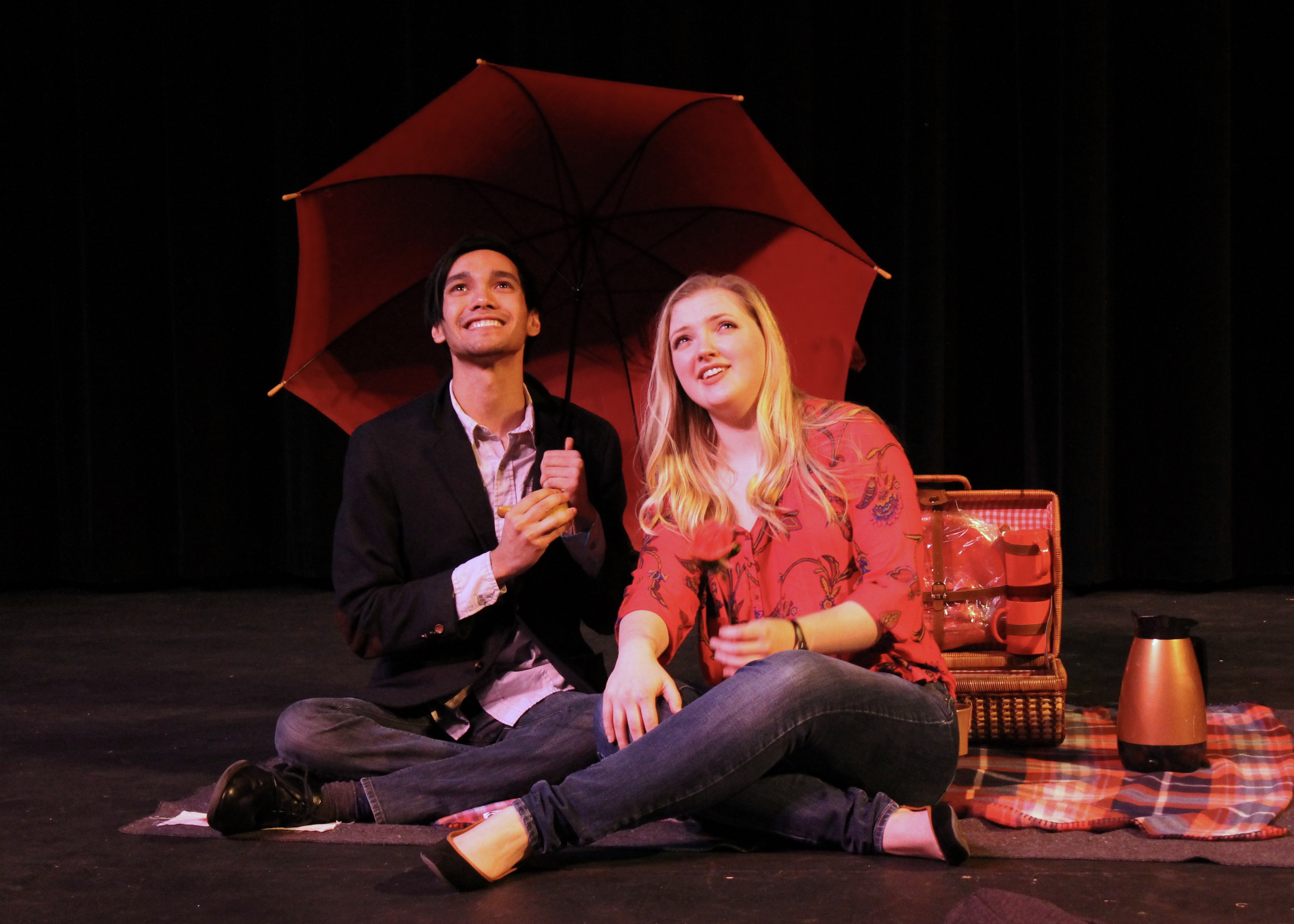 Luke Cariaga and Sydney Scott starred in the one act play directed by Samantha Kuneman. Photo by Allyson Hazelrigg.