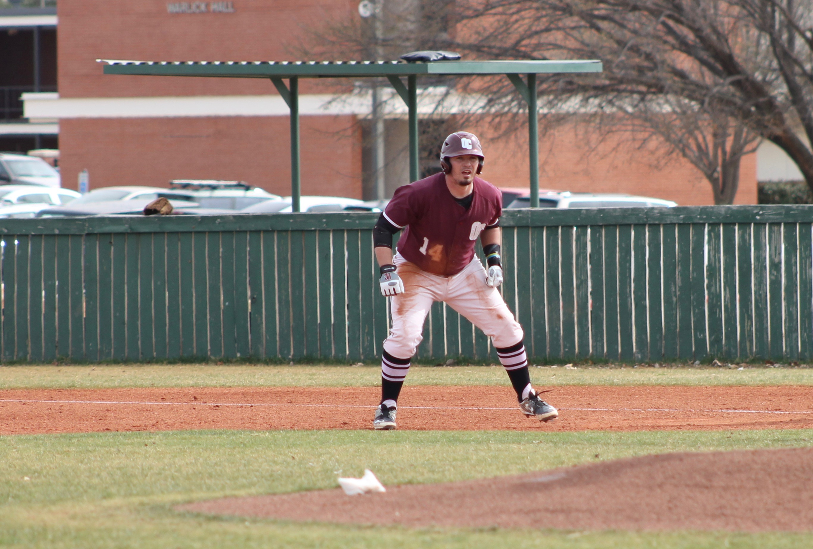 Catcher Lane Paul contributed one RBI to the Eagles at Texas-Permian Basin on April 8-9. Photo by Allyson Hazelrigg.