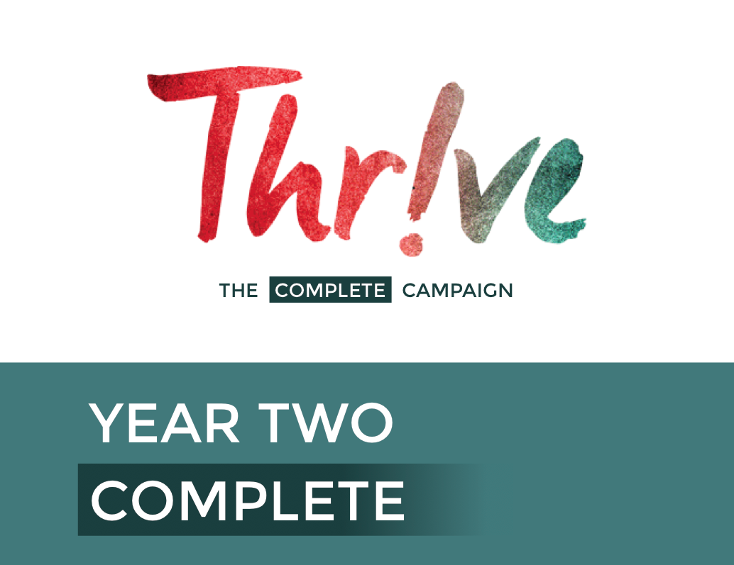 As Thrive completes its second year of fundraising, Blanchard looks forward to the initiative's third and final year. Graphic by Abby Bellow