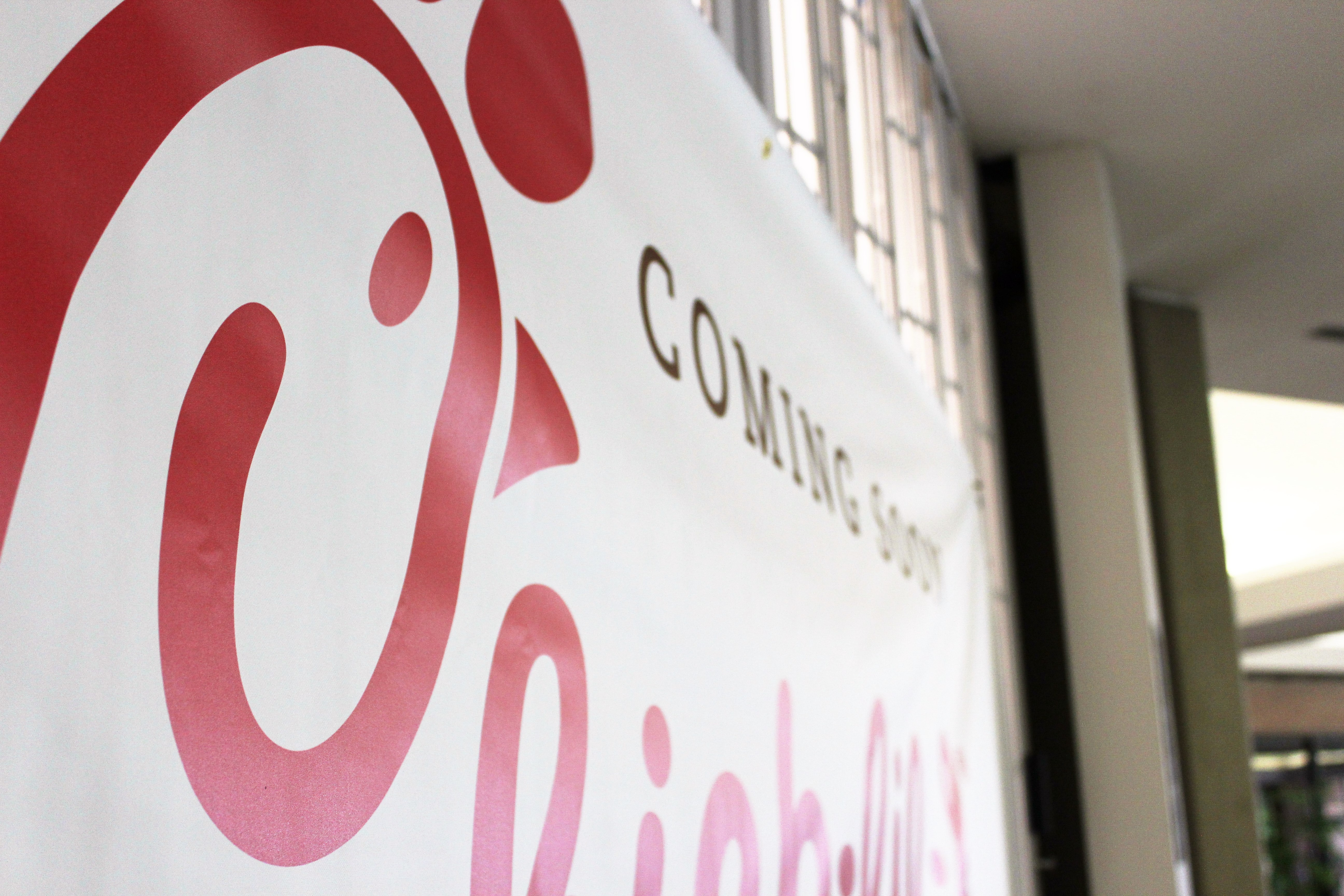 Chick-Fil-A prepares to open its doors soon in the Gaylord University Center. Photo by Jenny Rigney.