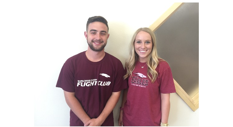 Braeden Fair and Kassi Long joined the Student Life department for this school year. Photo by Monica Button.
