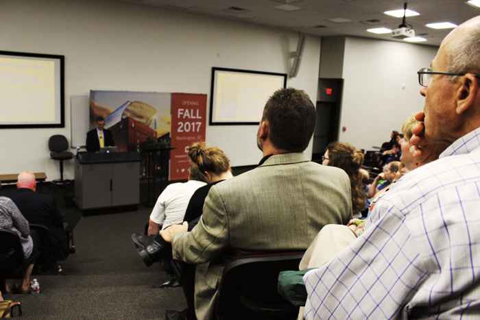 The Museum of the Bible kicked off the Presidential Influence series last night on campus.  Photo by Jenny Rigney.