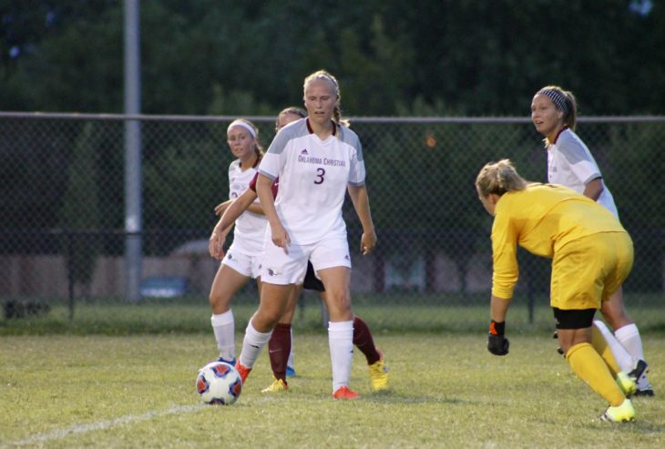 Lady Eagle Morgan Boling during Tuesday night's game against SNU. Photo by Allyson Hazelrigg.
