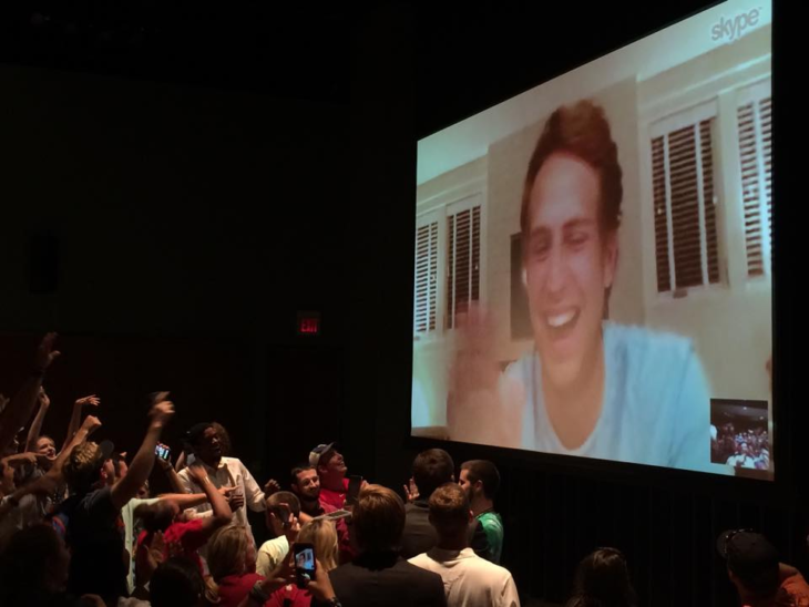 Ben Rector during the Earn Your Wings 2015 Skype session.  Online photo.