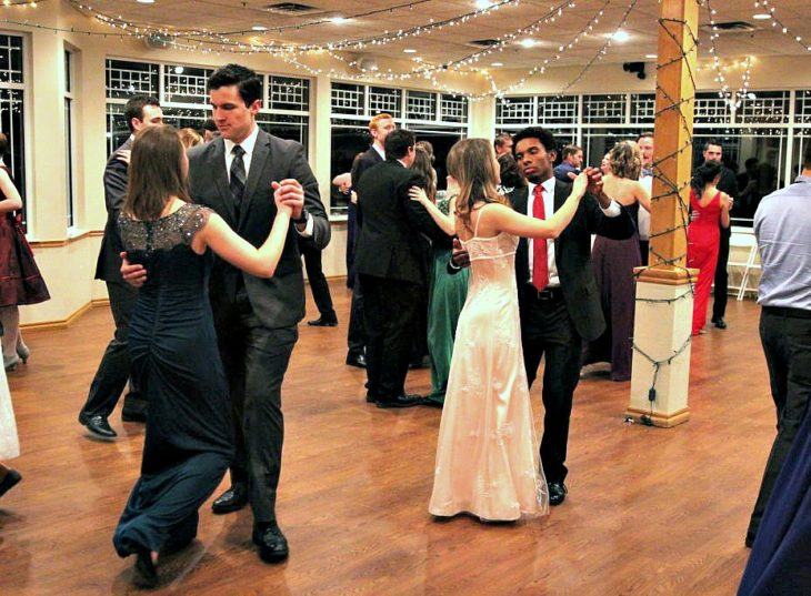 At Christmas Ball 2015 students learned different styles of formal dance. Submitted photo.