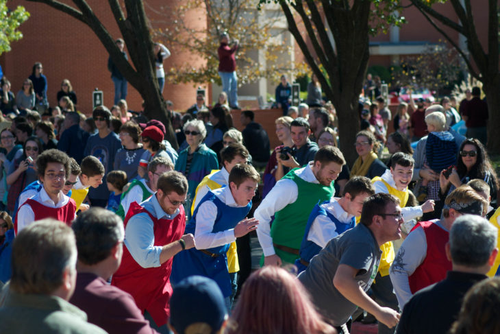 Students participating in last year's annual homecoming parade. Online Photo.