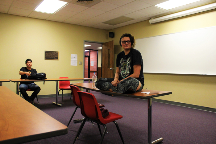 A student led Bible study meets Monday nights to focus on God's grace and forgiveness. Photo by Jenny Rigney.
