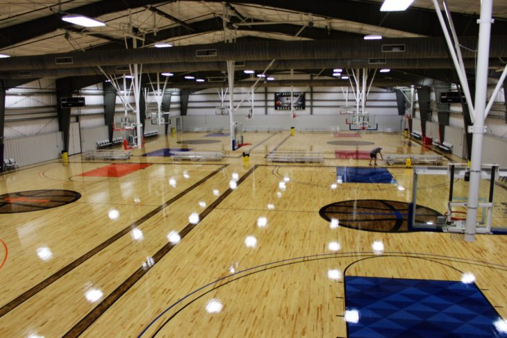 The new Solid Rock basketball gym opened three weeks ago. Photo by Jenny Rigney.