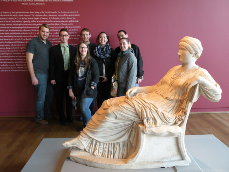 Member of Phi Alpha Theta strive to delve deep into history with field trips and other activities. Submitted photo