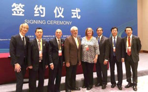 Representatives from Edmond and Qingyang signed the Sister Cities Agreement in Qingyang, China. Submitted photo.