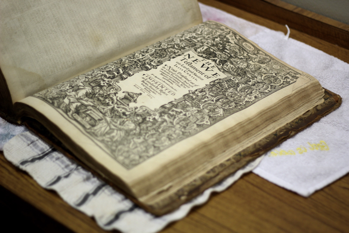 Historic King James Bible at Oklahoma Christian University. Photo by Megan Madison.