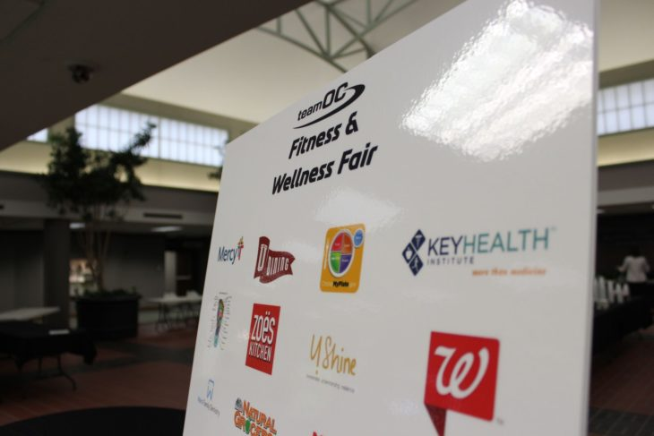 The Health and Fitness Fair is open today in the Garvey Conservatory. Photo by Jenny Rigney.