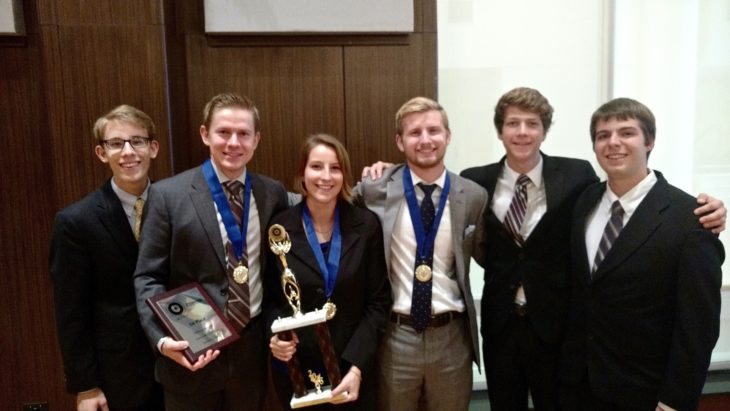 The Oklahoma Christian Ethics Team competed this week, winning two of their three matches. Submitted photo.