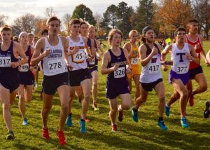 Evan Durrill running on Saturday, November 5th. Photo by Katie Jones.