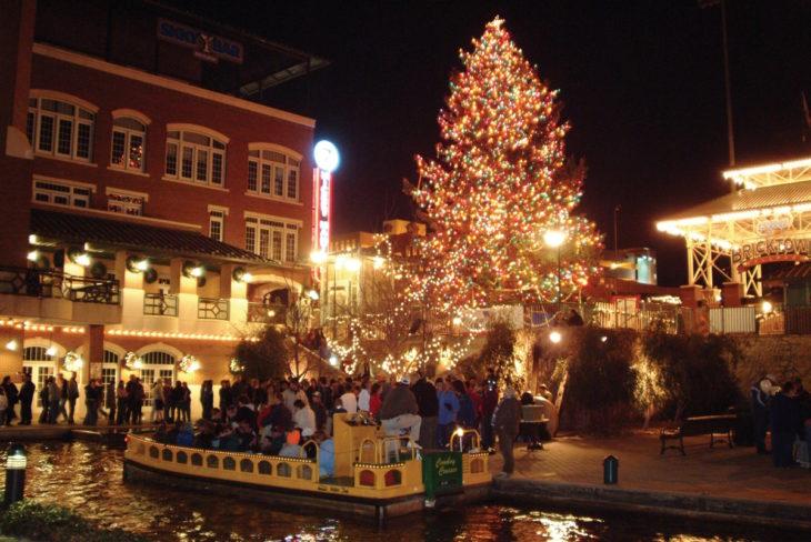 OKC Downtown in December. Online photo.