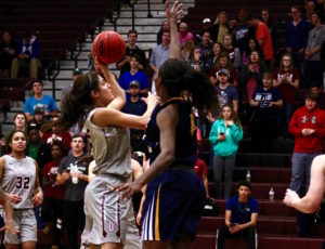 Career night for three Lady Eagles in win against Saints