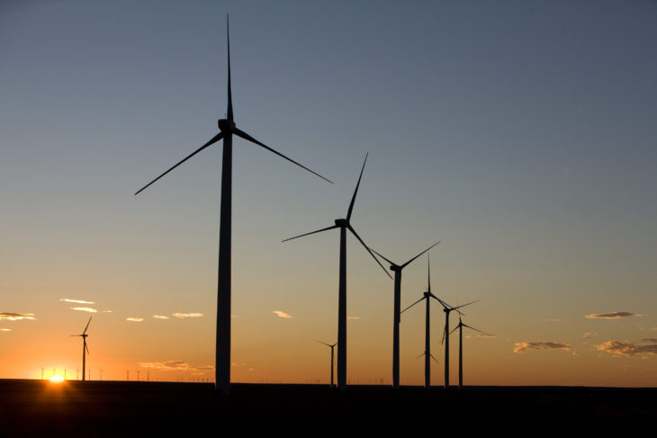 Oklahoma is third in the nation in wind energy. Online photo.