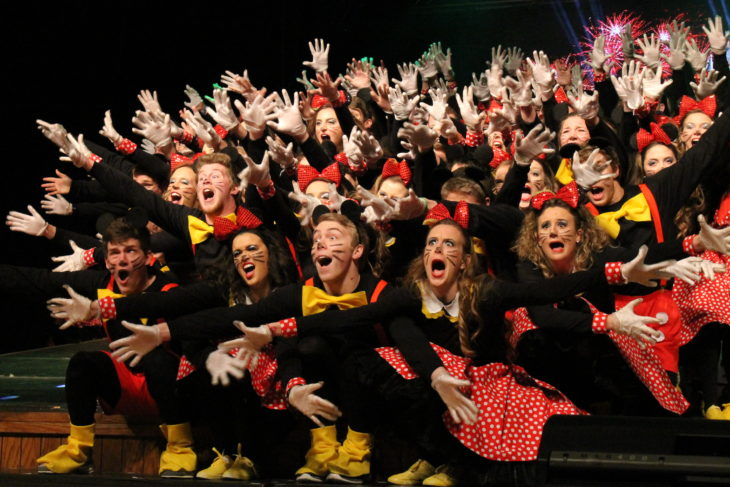The freshmen class performing in Spring Sing 2016. Photo by Allyson Hazelrigg.
