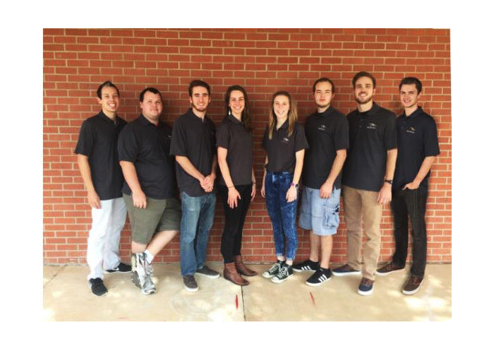 Mitch Barron, Ben Griffith, Layne Hammer, Joshua Hartman, Ian McElfresh, Marina Pendleton, Wesley Shepherd, and Jordan VanBuskirk are on the engineering team competing in this year's SAE competition. Submitted Photo.