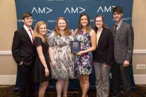 AMA after winning Outstanding Fundraising. Submitted Photo