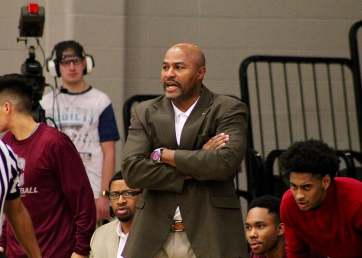Coach Cory Cole is the head coach for Oklahoma Christian men's basketball team. Photo by Allyson Hazelrigg.