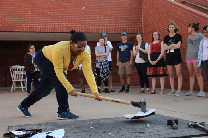 A Scale Smash event was held on campus yesterday afternoon. Photo by Jenny Rigney