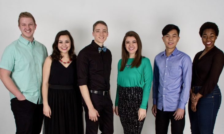 The Spring Sing hosts for 2017. Photo by Judson Copeland.