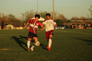 The Oklahoma Christian soccer team played Korean Christian University. Photo by Jenny Rigney.