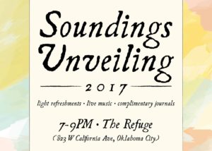 The Soundings Unveiling will be tomorrow night. Submitted photo.