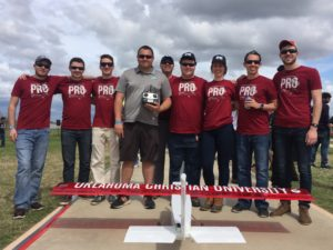 Oklahoma Christian students placed fifth in the SAE Aero Design Competition. Submitted photo.