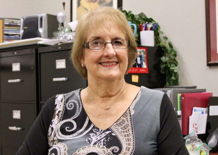 After a department changing tenure, Kathy Thompson will be retiring from Oklahoma Christian after this school year. Photo by Allyson Hazelrigg.
