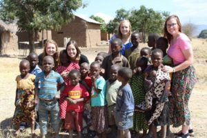 Seniors Emily Souza and Emily Lobley and juniors Anna Dindak and Molly McQuirk spent their summer interning in Chimala, Tanzania through the Center for Global Missions. Submitted photo.