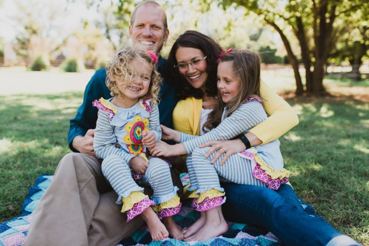 Darci Thompson and her family are battling her second round of breast cancer. Online photo.