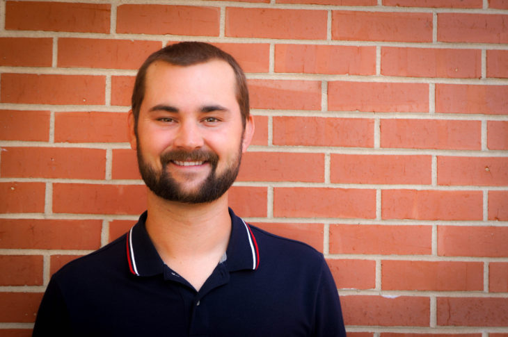 Trent Dobbs joins the Freshman Experience team as the new boys' counselor. Photo by Elise Miller.