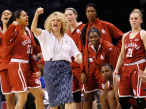 Head women's basketball coach Sherri Coale graduated from Oklahoma Christian in 1987. She has lead the Sooners to 20 consecutive NCAA tournament appearances. Online Photo.